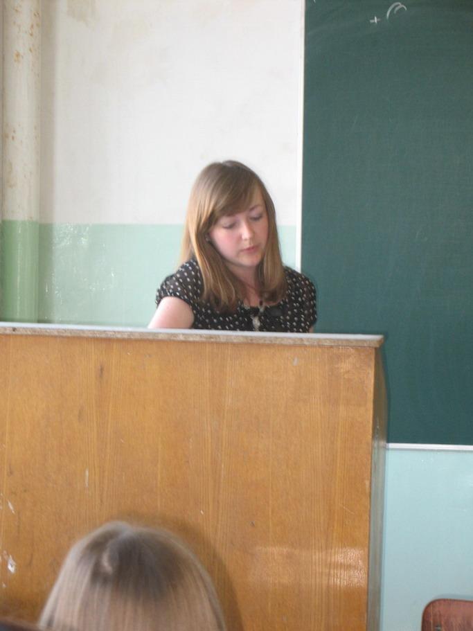 Дударєва Катерина представляє результати своїх наукових досліджень
